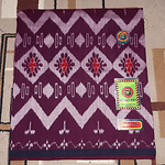 Handloom rayon lungi for men With Large Pattern