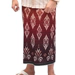 Indonesian Rayon Sarong For Men With Flower Motifs by Atlas