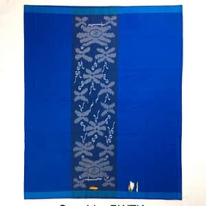 Plain Color Indonesian Sarong With Flower Designs in Middle Sarong