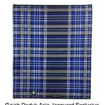 Exclusive Jacquard Fabric Of denim sarong With Indonesian Motif