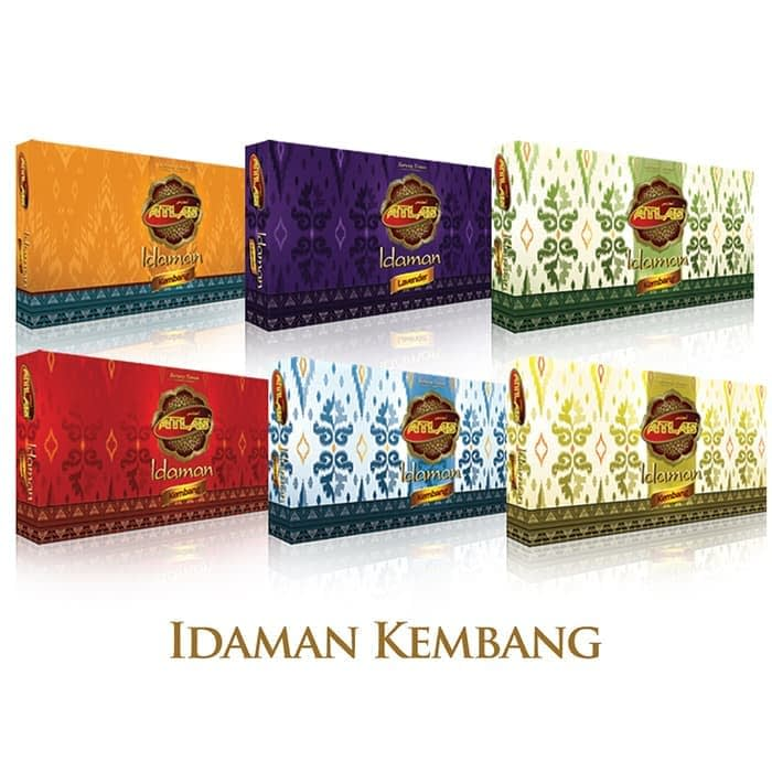 flower motif of indonesian woven sarong